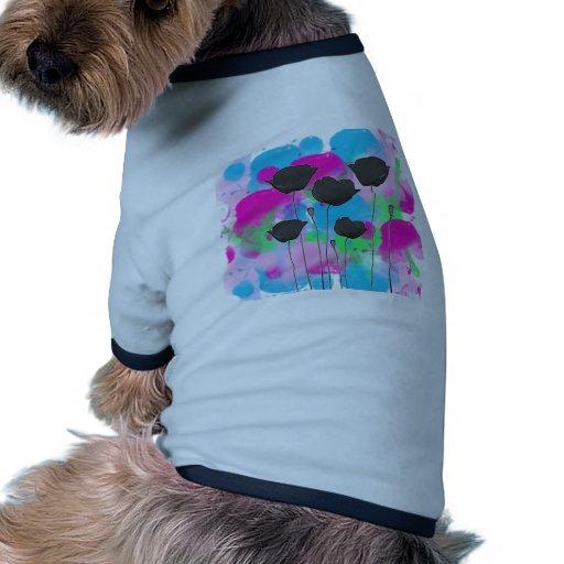 painting poppy camisetas de perro