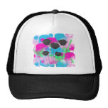 painting poppy mesh hats