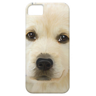 Painting puppy with cute adorable face iPhone SE/5/5s case