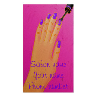Painting Purple Nails Business Card