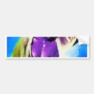 Painting:  Purple People Eaters Bumper Sticker