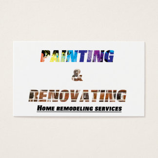 Home Renovation Business Cards Templates Zazzle - Home remodeling business cards