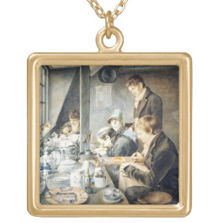 Painting Room of Mr. Baxter, No. 1 Goldsmith Stree Gold Plated Necklace