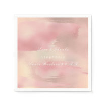 Painting Rose Gold Ombre Blush Copper Custom Name Paper Napkin