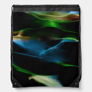 Painting sand dunes acrylic #8 drawstring bags