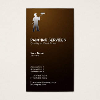 Painting Services | Painters Brown Business Card
