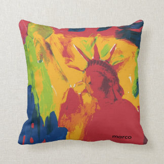 Painting Statue of Liberty pillow