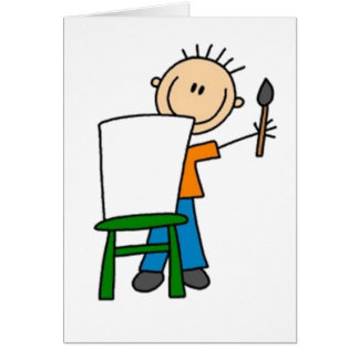 Painting Stick Figure Card