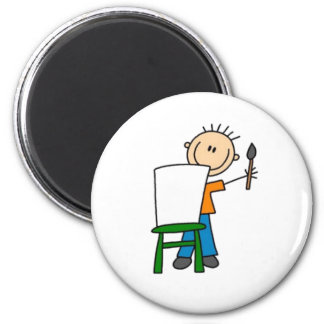 Painting Stick Figure Magnet