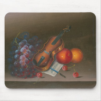 Painting Still Life Of Fruit And Violin Mouse Pad