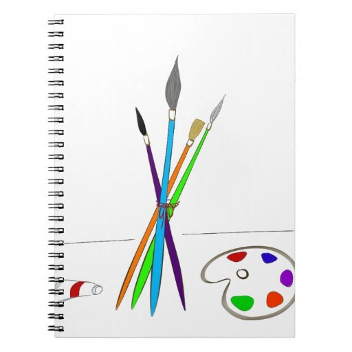 Painting supplies notebook