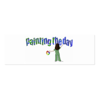 Painting the Day Card Double-Sided Mini Business Cards (Pack Of 20)