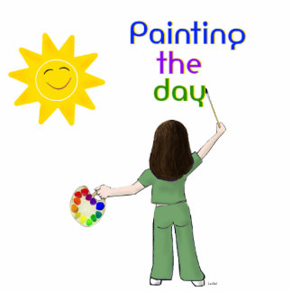 Painting the Day photosculpture Photo Statuette