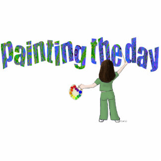 Painting the Day Pin Photo Cutout