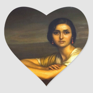 "Painting ""the Fuensanta"" Julio Romero de Torres Heart Sticker"