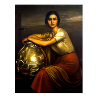 "Painting ""the Fuensanta"" Julio Romero de Torres Postcard"