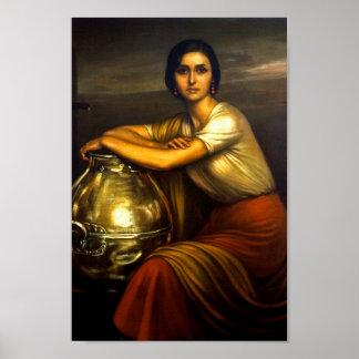 "Painting ""the Fuensanta"" Julio Romero de Torres Poster"