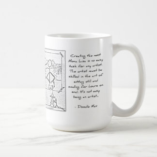 Painting the Next Mona Lisa [by Doodle Max] Coffee Mug