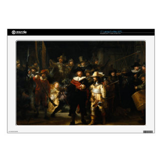 Painting The Night Watch by Rembrandt van Rijn Laptop Skin