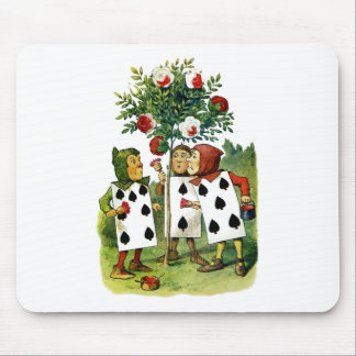 Painting the Queen of Heart's Roses in Wonderland Mousepads