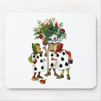 Painting The Queen's Roses in Alice in Wonderland Mouse Pads