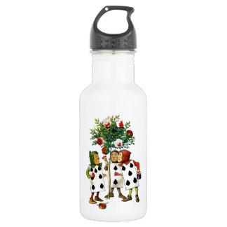 Painting The Queen's Roses in Alice in Wonderland Stainless Steel Water Bottle
