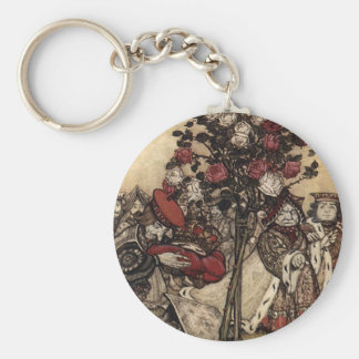 Painting the Roses Keychain