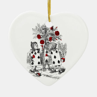 Painting the Roses Red Ceramic Ornament