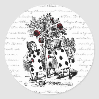 Painting the Roses Red Classic Round Sticker
