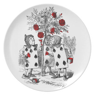 Painting the Roses Red Melamine Plate