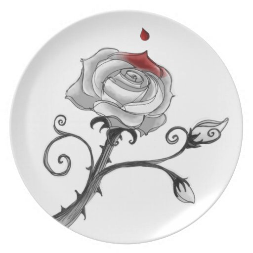 'Painting the Roses Red' Plate