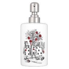 Painting the Roses Red Soap Dispenser & Toothbrush Holder