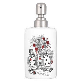 Painting the Roses Red Soap Dispenser & Toothbrush Holder