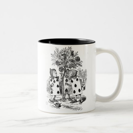 Painting The Roses Red Two-Tone Coffee Mug