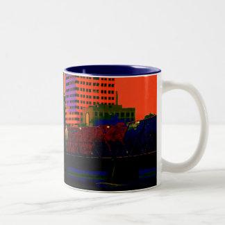 Painting The Town Two-Tone Coffee Mug
