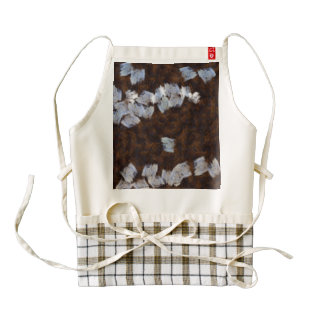Painting the wall white zazzle HEART apron