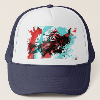 Painting Tiger Trucker Hat
