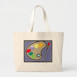 painting - visual arts jumbo tote bag