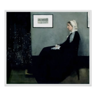 Painting Whistler's Mother Poster