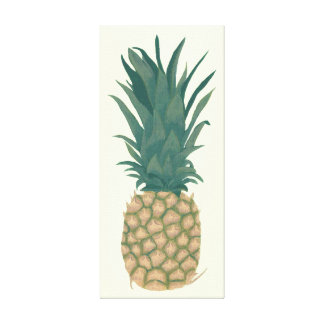 Painting Whole Ripe Pineapple Wrapped Canvas