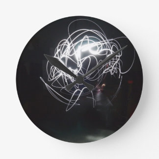 Painting with light round clock