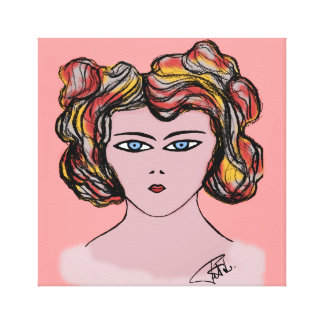 "Painting ""woman's face"" stretched canvas prints"