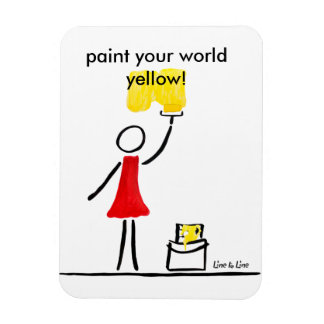 painting yellow magnet
