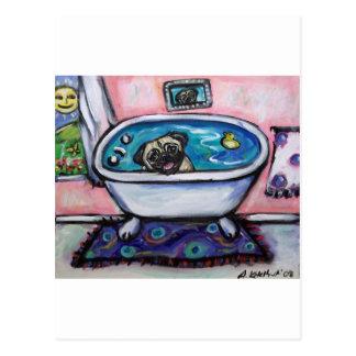 paintingpugpinkbath2 postal
