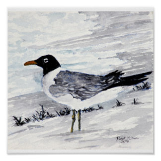paintings and prints of seagulls beach art print