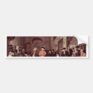 "Paintings By John Gay'S Beggar'S Opera ""Scene V"" Car Bumper Sticker"
