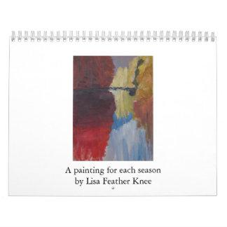 Paintings by Lisa Feather Knee Calendar