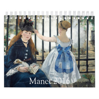 Paintings by Manet 2016 Small Calendar