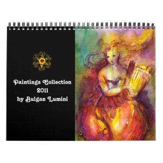 Paintings Collection by Bulgan Lumini -  2011 Wall Calendar