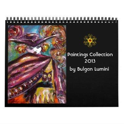 Paintings Collection by Bulgan Lumini -  2013 Wall Calendars